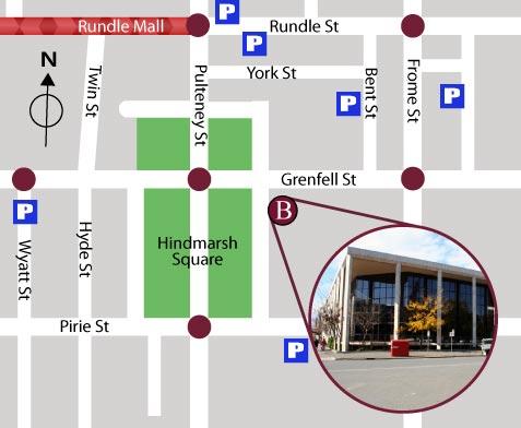 Brown & Associates Location Hindmarsh Square Adelaide